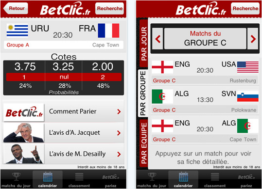 Betclic iphone