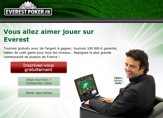 inscription everest poker