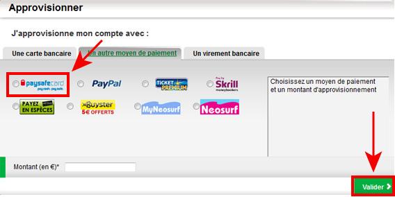site de rencontre avec paysafecard Plus besoins d'utiliser de carte bancaire sur le site pmufr avec les cartes prépayées ticket premium, neosurf et paysafecard utilisez la carte prépayée pour.
