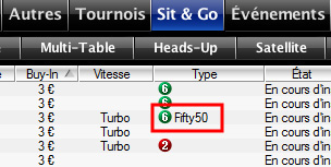 fifty50 sit and go pokerstars