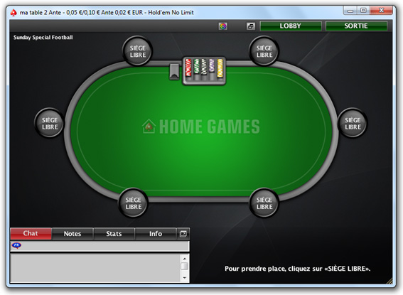 table home games pokerstars