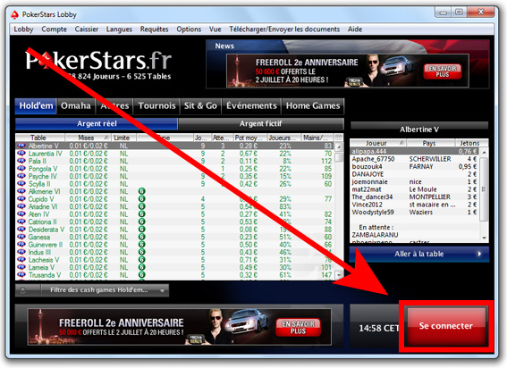 inscription pokerstars