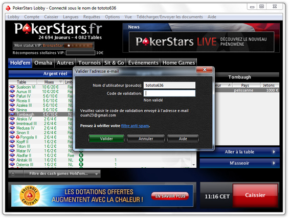 validation pokerstars windows