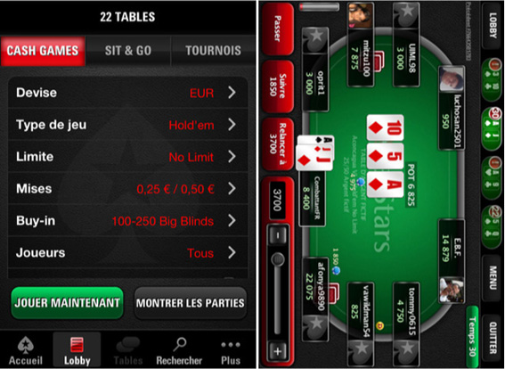 pokerstars iphone