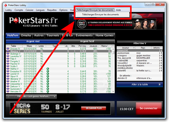 pokerstars validation documents