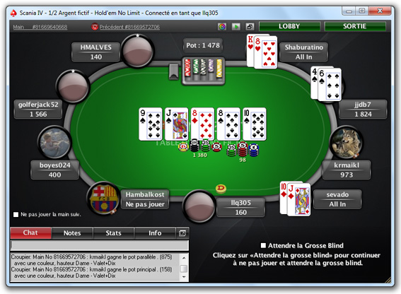 table pokerstars poker