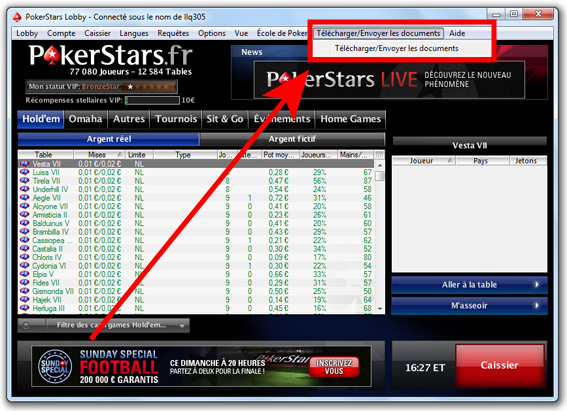 télécharger documents pokerstars