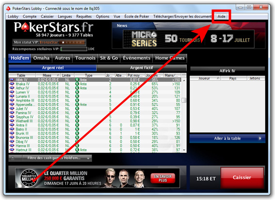 Contact Poker Stars